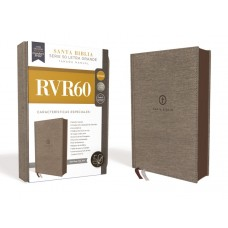 RVR60 Santa Biblia Serie 50 Letra Grande, Tamaño Manual, Tapa Dura,Tela, Gris