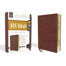 RVR60 Santa Biblia Serie 50 Letra Grande, Tamaño Manual, Leathersoft, Café