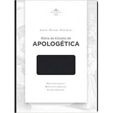 Biblia de Estudio de Apologética, negro imitación piel