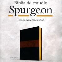 BIBLIA DE ESTUDIO SPURGEON IMIT PIEL NEGRO/CAFE RVR1960