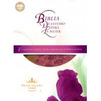 BIBLIA DE ESTUDIO PARA LA MUJER IMIT PIEL BEIGE/ROSADO RVR1960