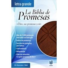 BIBLIA DE PROMESAS L.G IMITACION PIEL ESPECIAL CAFE RVR 1960