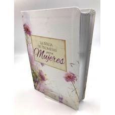Biblia de Promesas Letra Grande Floral Mujeres