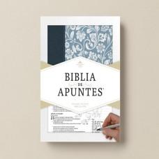 Biblia de apuntes imitacion piel azul y tela RVR1960