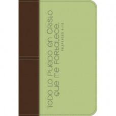 FORRO PARA BIBLIA VERDE-CAFE TODO LO PUEDO EN CRISTO (L)