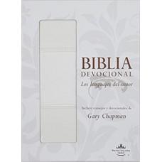 Biblia devocional: Lenguajes del amor RVR60 Blanco