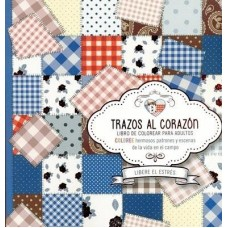 Trazos al Corazón, Libro de Colorear para adultos, Coloree hermosos patrones y escenas de la vida en el campo