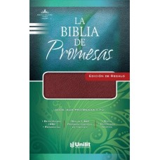 La Biblia de Promesas, Reina-Valera 1960, Edición de Regalo, imitación piel, vino