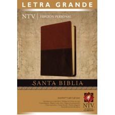 Santa Biblia Letra Grande, Nueva Traducción Viviente NTV, Edición personal, sentipiel duotono marrón