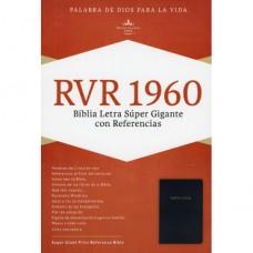 Biblia Letra Súper Gigante con Referencias, Reina-Valera 1960, imitación piel, negro