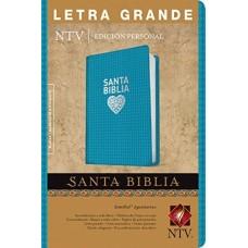 Santa Biblia Letra Grande, Nueva Traducción Viviente NTV, Edición personal, sentipiel aguamarina